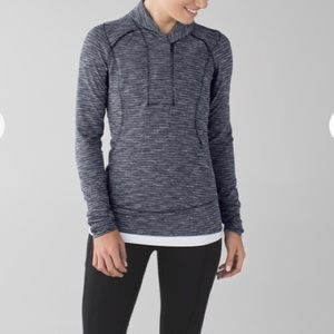 Lululemon Think Fast Pullover Grey 10 Coco Pique